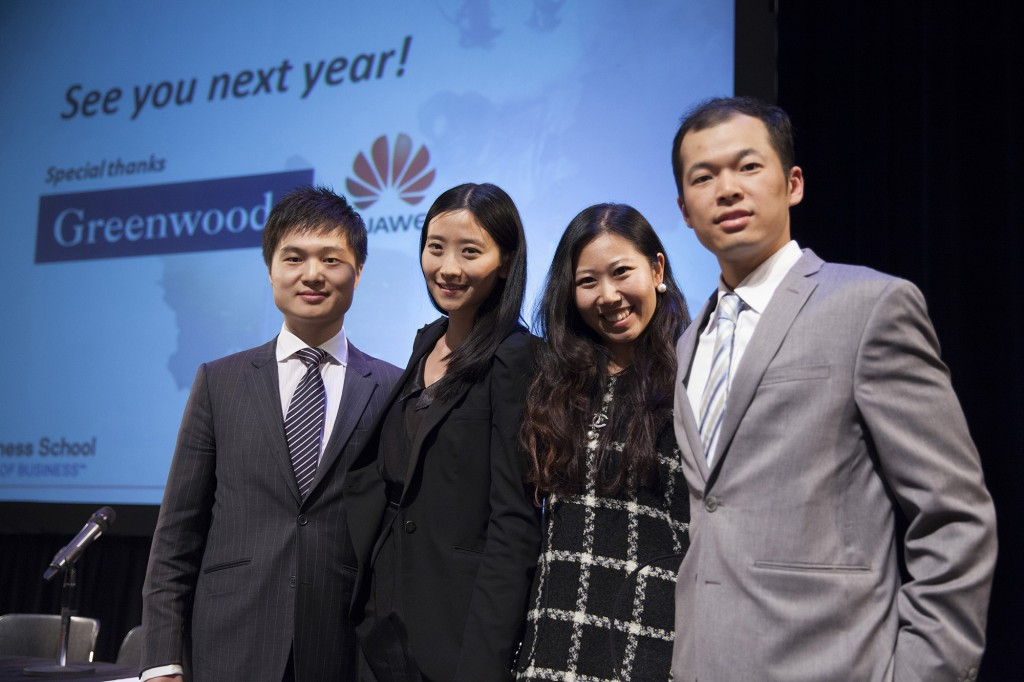 Victor Xin, Gina Wu, Katrina Wang, Angelo Wang (from left to right)
